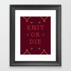 Knit or Die Framed Art Print