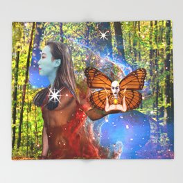Magic Garden Throw Blanket