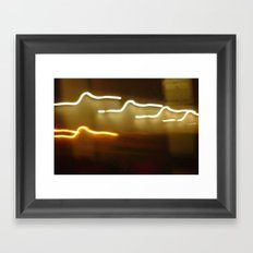 all of the lights... Framed Art Print