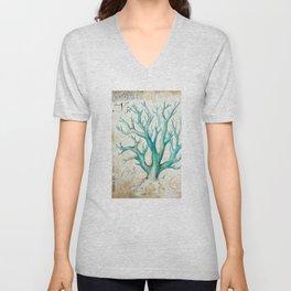Blue Coral No. 2 Unisex V-Neck