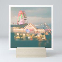 Ferris Wheel photo. Santa Monica.  Let's Be Kids Again Mini Art Print