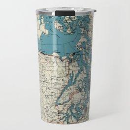 Vintage Map of The Puget Sound (1919) Travel Mug