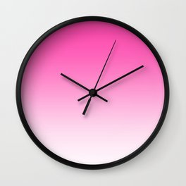 Pink Ombre Gradient Wall Clock