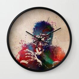 American football player 3 Wall Clock