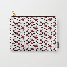 Ladybugs and Black Dots Carry-All Pouch