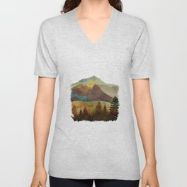 Autumn Sky Unisex V-Neck
