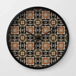 Rust and Chrome Wall Clock