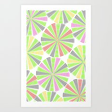 STRIPE DARTBOARDS  Art Print