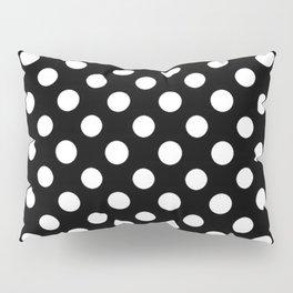 Black and White Polka Dot Pattern Pillow Sham