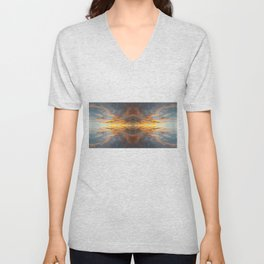 Sunset at the End of Time Unisex V-Neck
