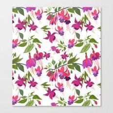 April blooms IV - Fuchsia White Canvas Print