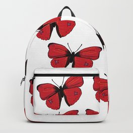 Red butterfly Spring Art Backpack