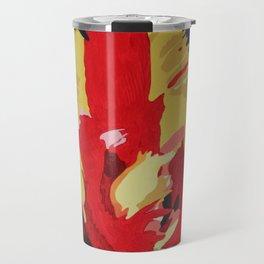 Parrot Tulip Abstract Travel Mug