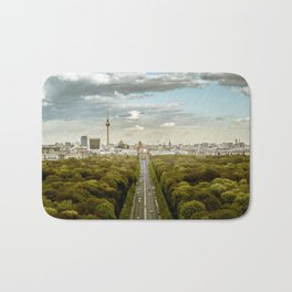 Berlin skyline Bath Mat