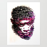 tyler the creator Art Prints featuring OBSCENE (Tyler the Creator) by Monica Diaz