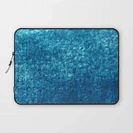 Petrol Velvet Blue Hues Texture Design Laptop Sleeve
