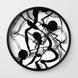 Abstract Black Strokes Wall Clock
