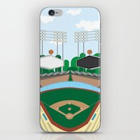 dodgers iPhone & iPod Skins featuring Dodger Stadium by Eric J. Lugo