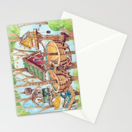 Treehouse Fun Farm Stationery Cards