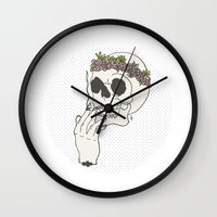 cigarette Wall Clocks featuring Acid cigarette by Gaab D'Amato