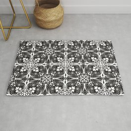Florence - Black and White Rug