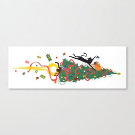 Ham & Cat Going on Holiday! Canvas Print