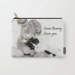 Easter bunny and kitten Carry-All Pouch