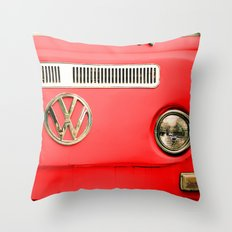 Summer of Love - Adventure Red Throw Pillow