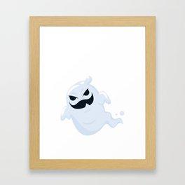Halloween Ghost Kids Gift T-Shirt Framed Art Print