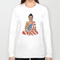 obama Long Sleeve T-shirts featuring Buddha Obama by Jack Coltman