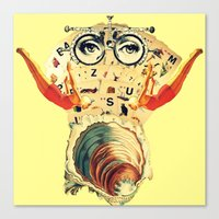 psychology Canvas Prints featuring Mystical uterus by Laura Nadeszhda