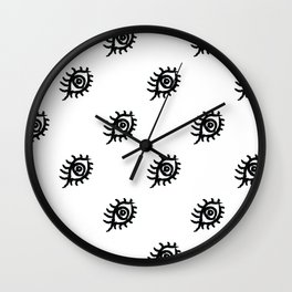 Graphic Eyes Pattern Wall Clock
