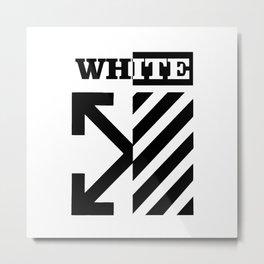 X Off White Metal Print