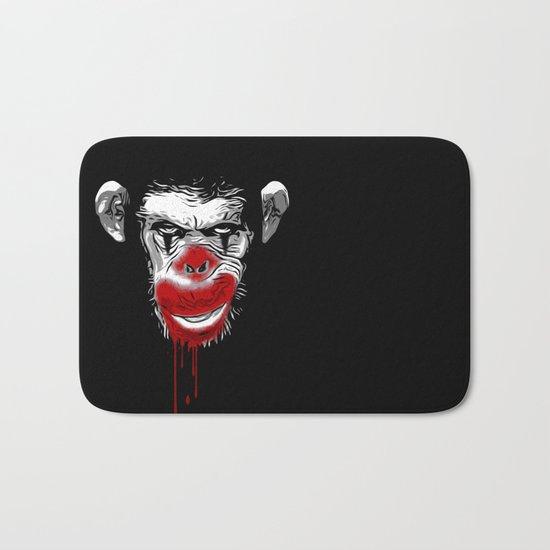 Evil Monkey Clown Bath Mat