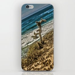 The Lonely Golden Cactus. iPhone Skin
