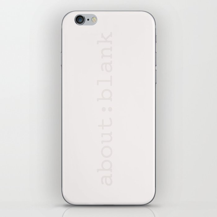 about:blank iPhone Skin by lafourmi