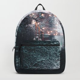 New York City Winter Scene Backpack