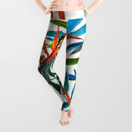 Exotic nature and flowers Leggings