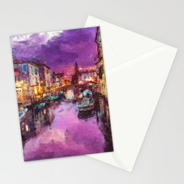 Twilight On Venice Canal Stationery Cards
