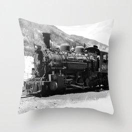 Durango - Silverton Engine 480 Throw Pillow