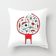 holding it all together Throw Pillow