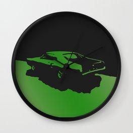 Mercury Marauder, Green on Black Wall Clock