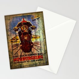 Vintage Racing Poster Stationery Cards