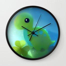 bronto dino Wall Clock
