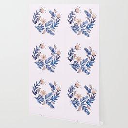 Blue Wreath Wallpaper
