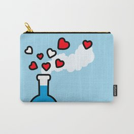 Blue and Red Laboratory Flask Carry-All Pouch