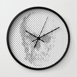 Hide Skull Wall Clock