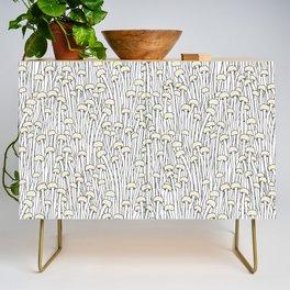 Enokitake Mushrooms (pattern) Credenza