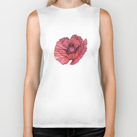 poppy Biker Tanks featuring Poppy by Annike