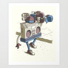Human Boombox Art Print